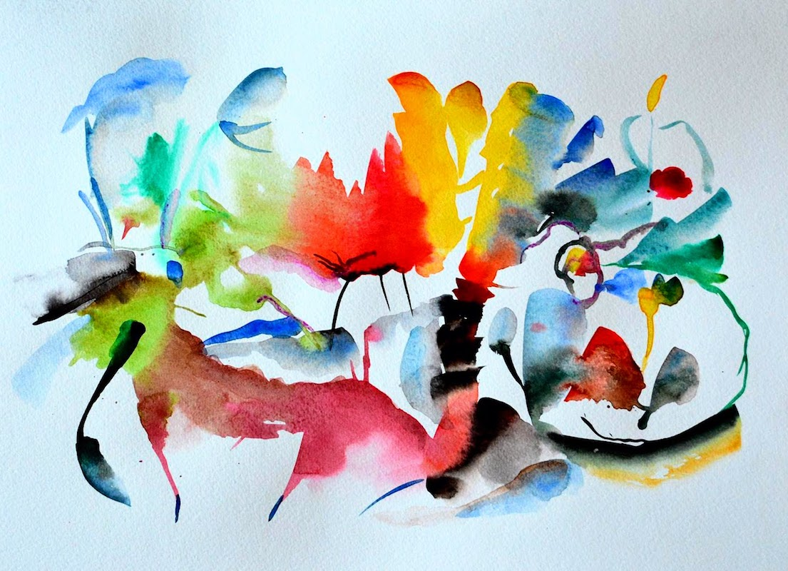 Abstract Painting Workshop (Watercolor) - PaintEvents.ch