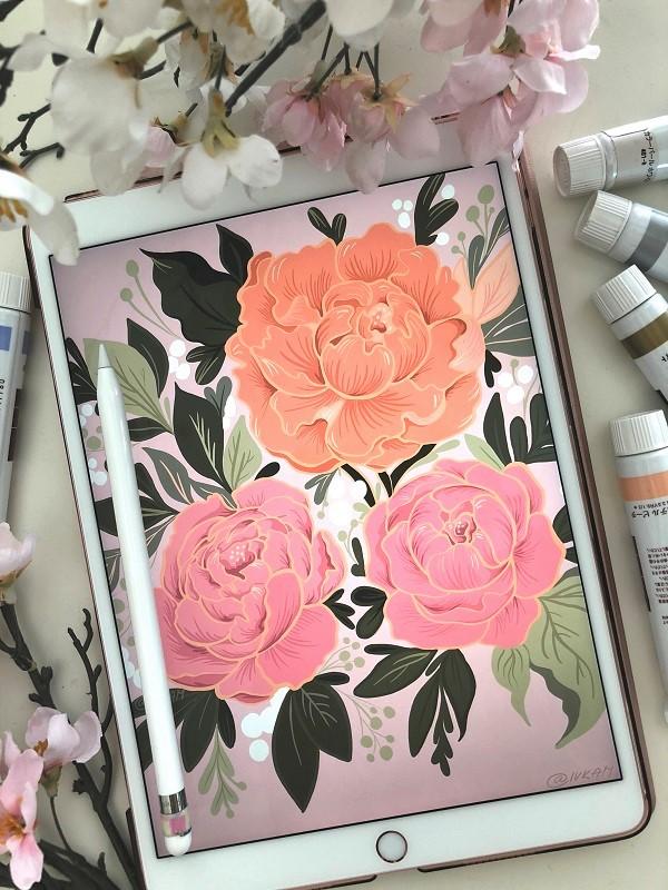 PaintEvents_iPad_Sketching_Flowers