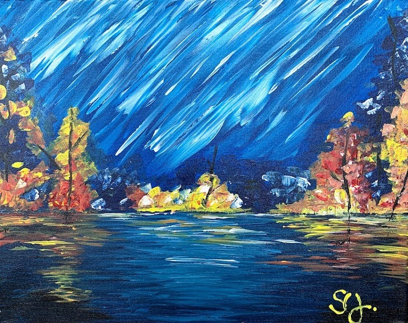 PaintEvents Abstract Landscape Painting