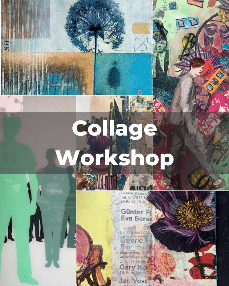 Collage Workshop by Angelika Erne and PaintEvents